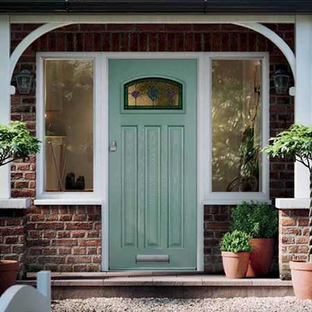 green composite front door