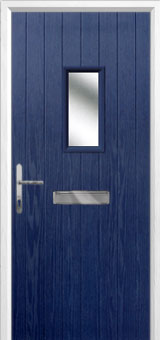 1 Square Composite Front Door in Blue