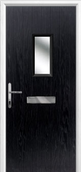 1 Square Composite Front Door in Black