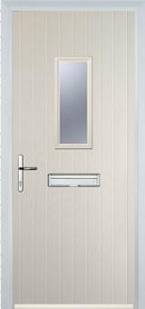 1 Square Composite FD30 Fire Door in Cream