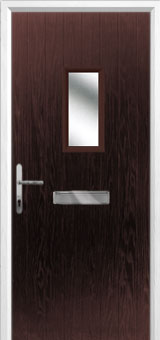 1 Square Composite Front Door in Darkwood