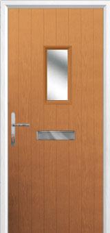 1 Square Composite Front Door in Oak