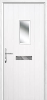 1 Square Composite Front Door in White