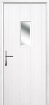 1 Square Composite Back Door in White