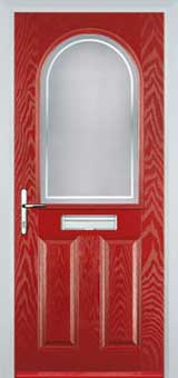 2 Panel 1 Arch Enfield Timber Solid Core Door in Red