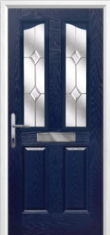 2 Panel 2 Angle Classic Composite Front Door in Blue