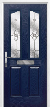 2 Panel 2 Angle Finesse Composite Front Door in Blue