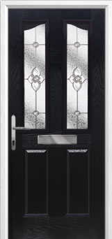 2 Panel 2 Angle Finesse Composite Front Door in Black