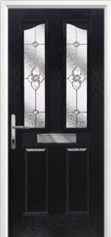 2 Panel 2 Angle Finesse Composite Front Door in Black