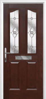 2 Panel 2 Angle Finesse Composite Front Door in Darkwood