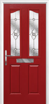 2 Panel 2 Angle Finesse Composite Front Door in Red