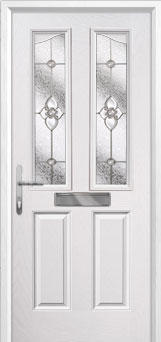 2 Panel 2 Angle Finesse Composite Front Door in White