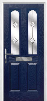 2 Panel 2 Arch Classic Composite Front Door in Blue