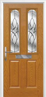 2 Panel 2 Arch Elegance Composite Front Door in Oak