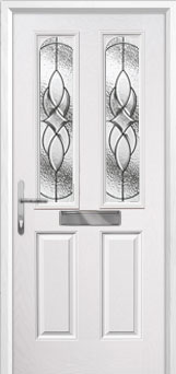 2 Panel 2 Arch Elegance Composite Front Door in White