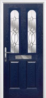 2 Panel 2 Arch Flair Composite Front Door in Blue