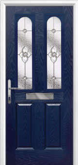 2 Panel 2 Arch Finesse Composite Front Door in Blue