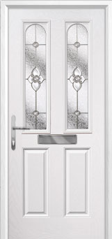 2 Panel 2 Arch Finesse Composite Front Door in White