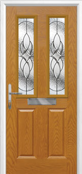 2 Panel 2 Square Elegance Composite Front Door in Oak