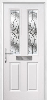 2 Panel 2 Square Elegance Composite Front Door in White