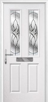 2 Panel 2 Square Elegance Composite Front Door in White