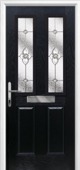 2 Panel 2 Square Finesse Composite Front Door in Black