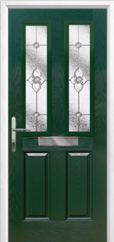 2 Panel 2 Square Finesse Composite Front Door in Green