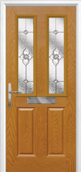 2 Panel 2 Square Finesse Composite Front Door in Oak