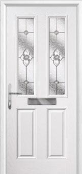 2 Panel 2 Square Finesse Composite Front Door in White