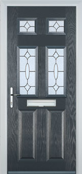 2 Panel 4 Square Zinc Brass Art Clarity Composite Front