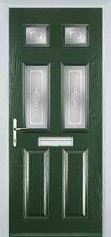 2 Panel 4 Square Staxton Timber Solid Core Door in Green