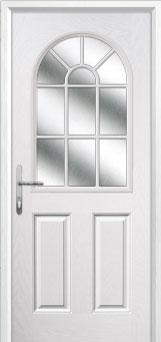2 Panel Sunburst Composite Back Door in White