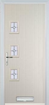 3 Square (off set) Finesse Composite Front Door in Cream