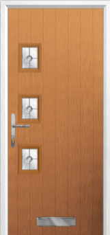 3 Square (off set) Finesse Composite Front Door in Oak