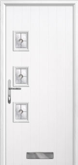 3 Square (off set) Finesse Composite Front Door in White