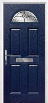 4 Panel 1 Arch Elegance Composite Front Door in Blue