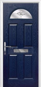 4 Panel 1 Arch Finesse Composite Front Door in Blue