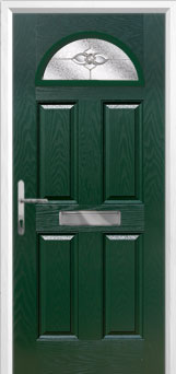 4 Panel 1 Arch Finesse Composite Front Door in Green