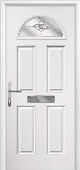 4 Panel 1 Arch Finesse Composite Front Door in White