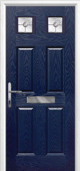 4 Panel 2 Square Finesse Composite Front Door in Blue