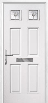 4 Panel 2 Square Finesse Composite Front Door in White