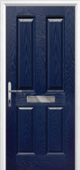 4 Panel Composite Front Door in Blue