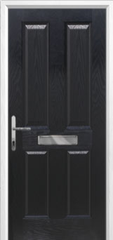 4 Panel Composite Front Door in Black