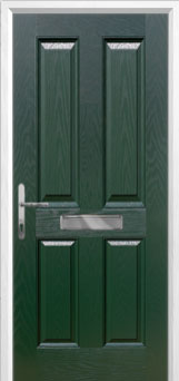 4 Panel Composite Front Door in Green