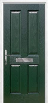 4 Panel Composite Front Door in Green