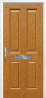 4 Panel Composite Front Door in Oak