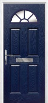 4 Panel Sunburst Composite Front Door in Blue