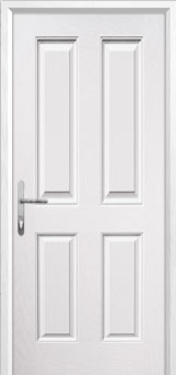 4 Panel Composite Back Door in White