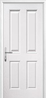 4 Panel Composite Back Door in White