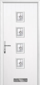 4 Square Finesse Composite Front Door in White
